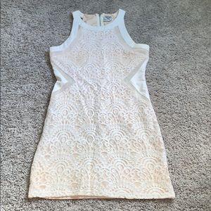 Angel Biba White Lace Mini Dress LF